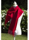 SCARF PLAIN DARK RED 100% BABY ALPACA