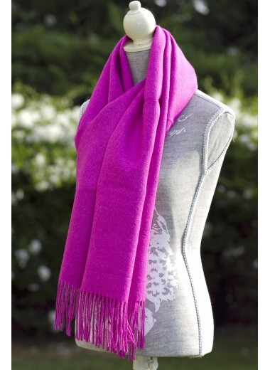 Scarf Plain Red-Violet