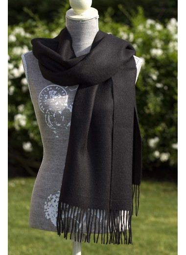 Scarf Plain Black