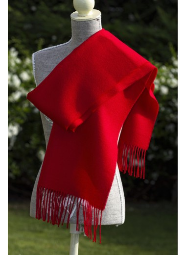 Scarf Plain Light Red