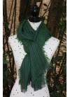 TWO-TONE GREEN AND BLUE PASHMINA 100% BABY ALPACA