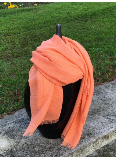 Solid Coral Pashmina