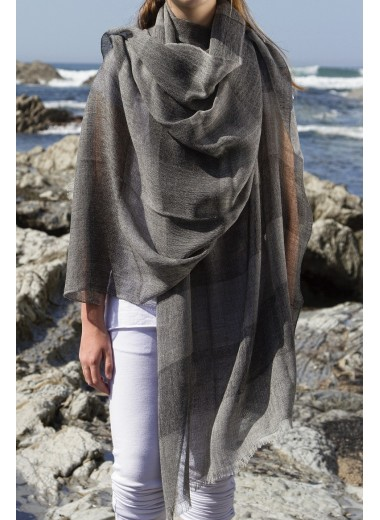Black Band Pashmina